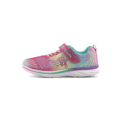 TOM TAILOR Kinder Regenbogen-Sneaker mit Glitzer, rosa, Gr.34