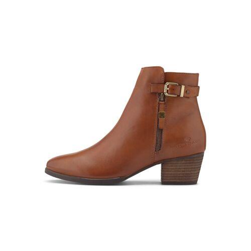 TOM TAILOR Damen Ankle Boots aus Echtleder, braun, Gr.40