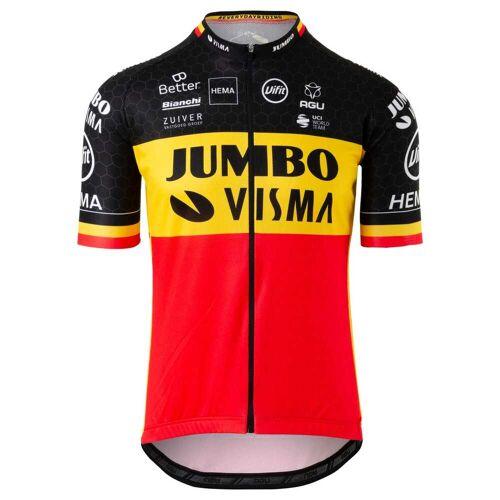AGU Herren Replica Belgischer Meister Trikot Team Jumbo Visma  Schwarz