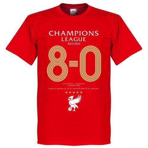 Retake Liverpool UCL 8-0 Record T-Shirt - rot - M