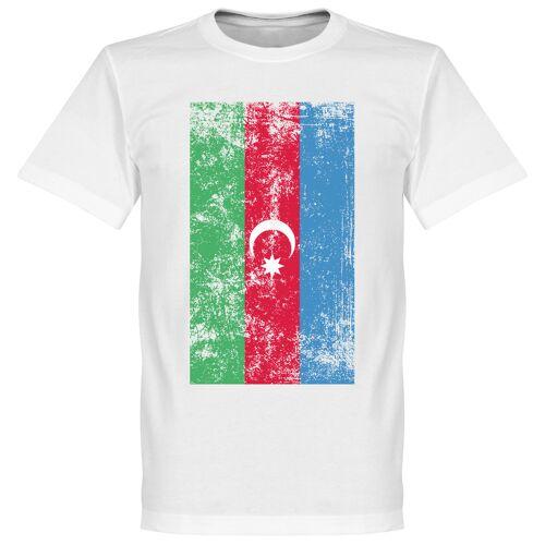 Retake Aserbaidschan Fahne T-Shirt - weiß - XXL