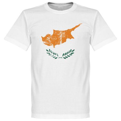 Retake Zypern Fahne T-Shirt - weiß - XL
