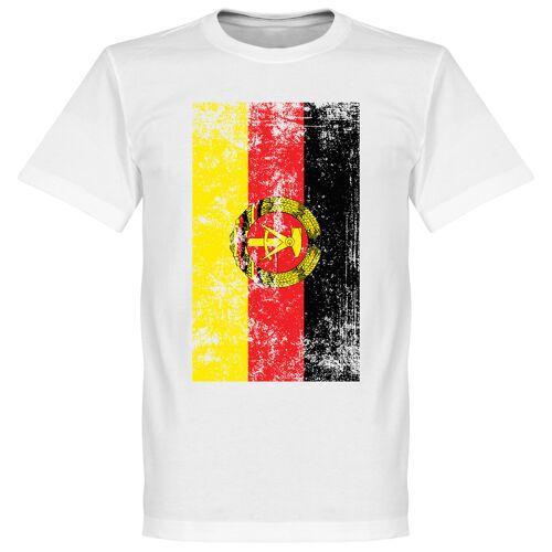 Retake DDR Fahne T-Shirt - weiß - M