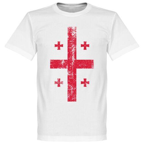 Retake Georgien Fahne T-Shirt - weiß - XL