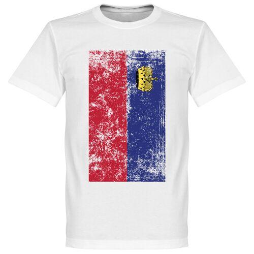 Retake Liechtenstein Fahne T-Shirt - weiß - S