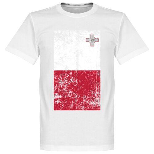 Retake Malta Fahne T-Shirt - weiß - XXXL
