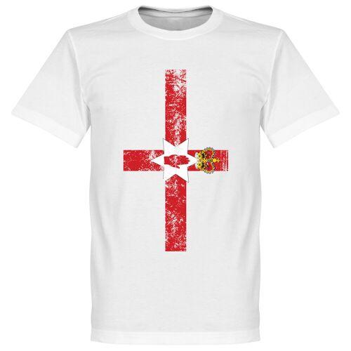 Retake Nordirland Fahne T-Shirt - weiß - XXXL
