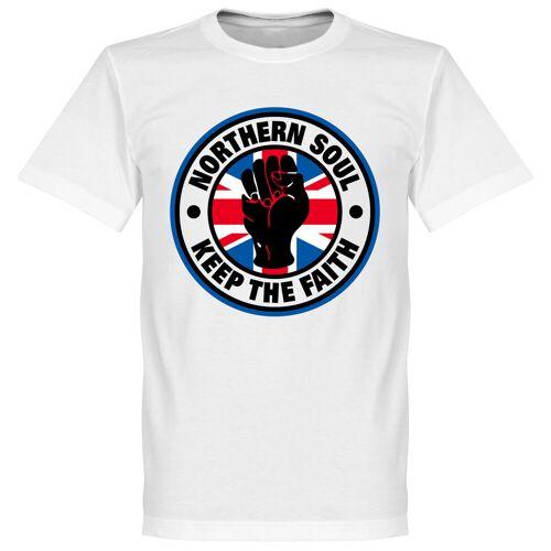 Retake Northern Soul Union Fahne T-Shirt - weiß - M