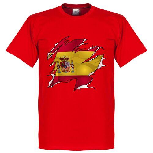 Retake Spanien Ripped Fahne T-Shirt - rot - XXL