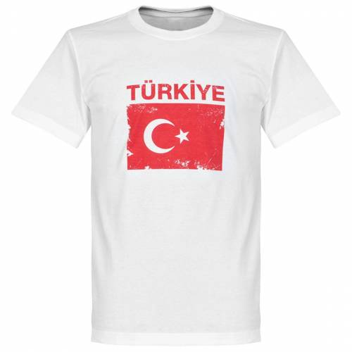 Retake Türkei Fahne T-Shirt - weß - 5XL
