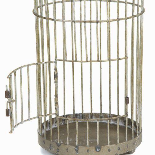 BigBuy Home Decorative grau metall cage - Art & Metal Kollektion by H...