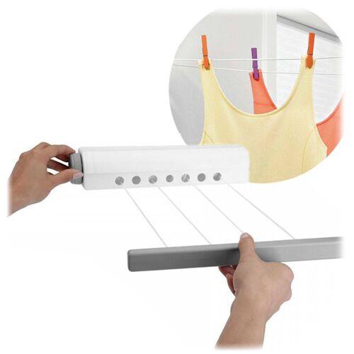 BigBuy Home Faltbarer Wäscheständer Einziehbar Roll-up