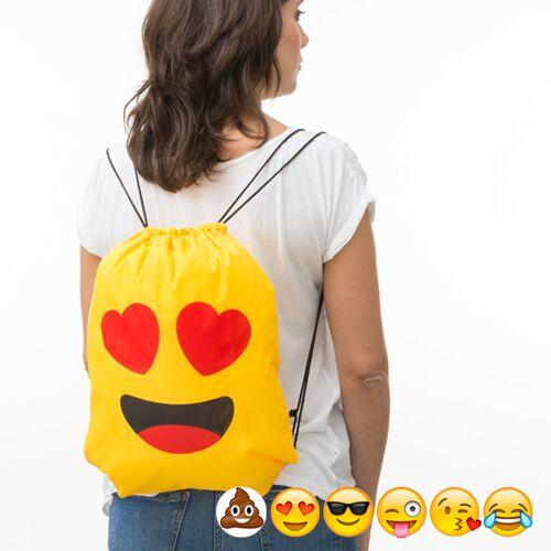 BigBuy School Emoticons Turnbeutel mit Kordelzug