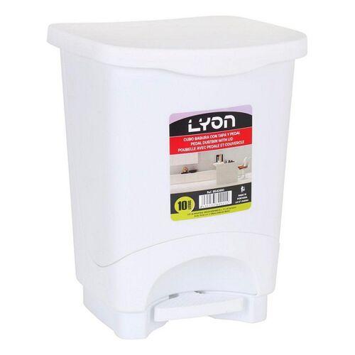 ECO Mülleimer mit Pedal Lyon Weiß