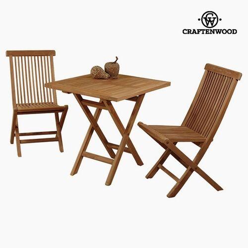 BigBuy Home Tisch mit 2 Stühlen Teakholz 70 x 70 x 77 cm by Craften...