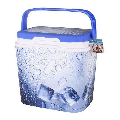 BigBuy Outdoor Tragbarer Kühlschrank Blau 25 L