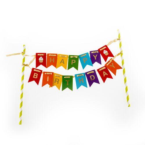 BigBuy Party Happy Birthday Kuchendeko