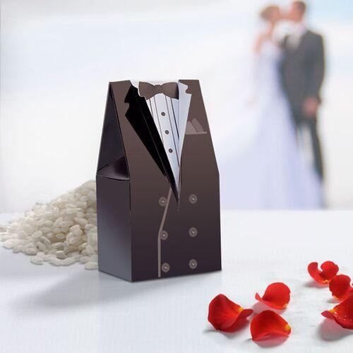 BigBuy Party Hochzeitsgeschenktüten 10er Pack Braut