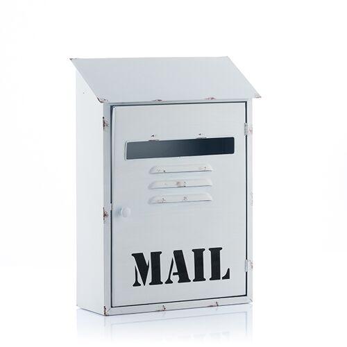 BigBuy Home Mail Weißer Postkasten aus Metall