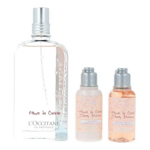 L'occitane Set mit Damenparfum Fleurs De Cerisier Loccitane 3 pcs