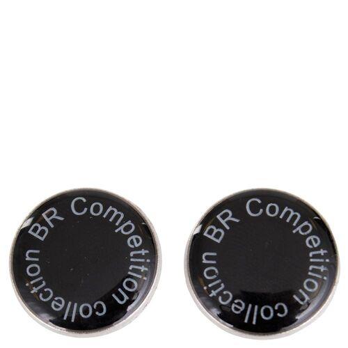BR magnetischer Knopf mit Fahne silber