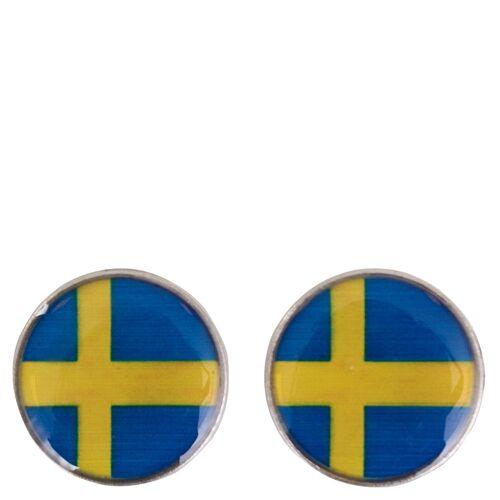 BR magnetischer Knopf mit Fahne silverse