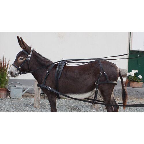 PFIFF Einspännergeschirr Donkey schwarz 1