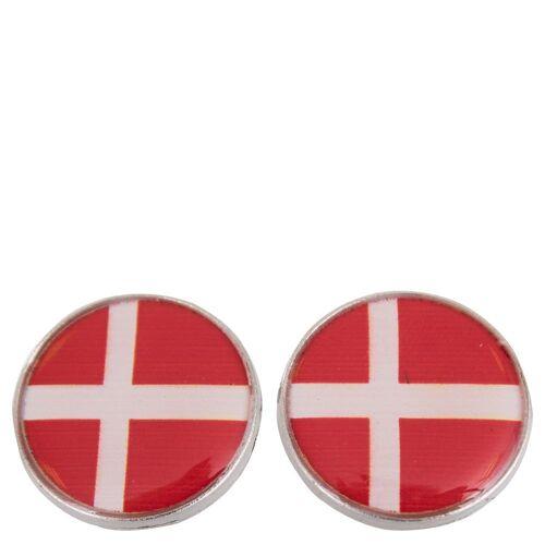 BR magnetischer Knopf mit Fahne silverdk