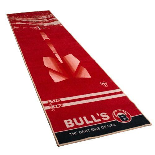Bulls Dart Teppich rot mit Dartpfeil