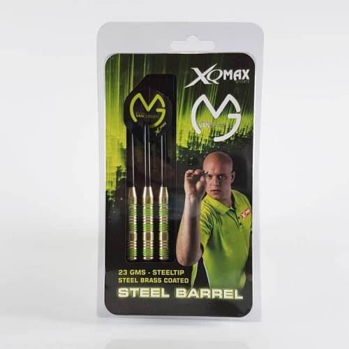 XQMax Michael van Gerwen Brass Steel Darts 23g