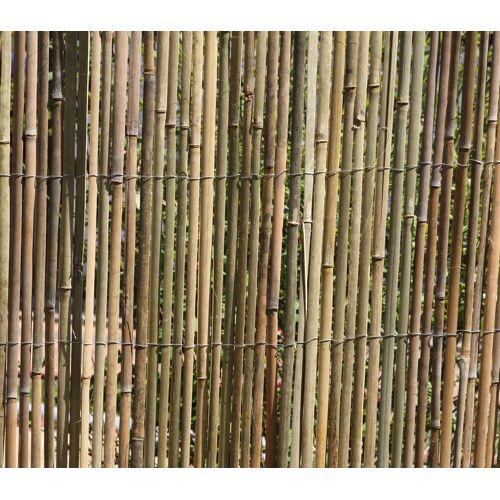 AGRO-JUMAL BAMBUSMATTE 2m x 1,5m BAMBUS-Sichtschutzmatte Zaun Sichtschutz Matte geschnitten