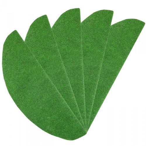 Stufenmatte / Treppenmatte Rasenteppich 24 x 65 cm - 15 Stück 3635 grün