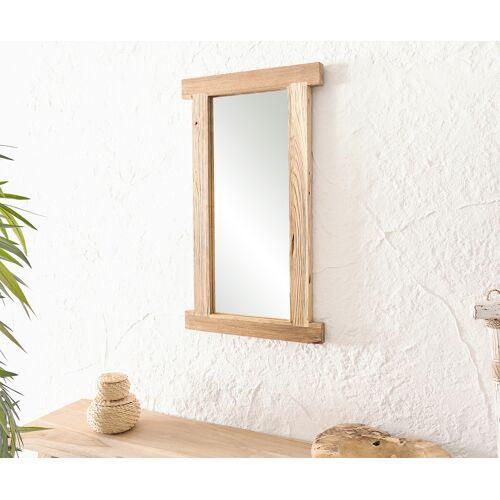 DELIFE Spiegel Zain 40x70 cm Natur Teak Holz