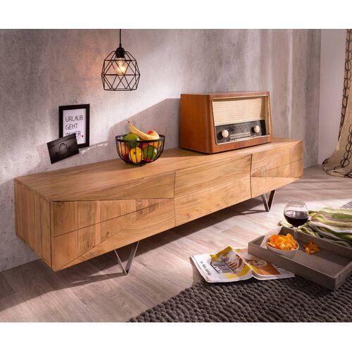 DELIFE Designer-Lowboard Wyatt 175 cm Akazie Natur 1 Klappe