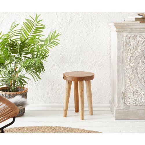 DELIFE Sitzhocker Sanora 30x30 cm Teak Natur
