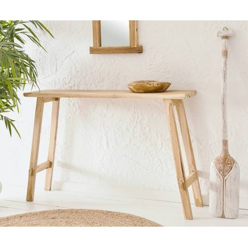 DELIFE Konsolentisch Zain 120x30x76 cm Natur Teak Holz
