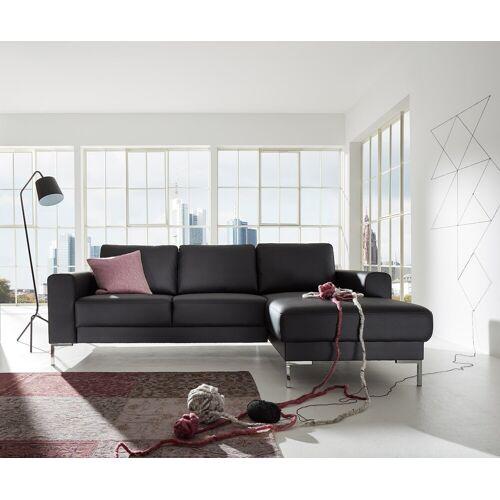 DELIFE Designer-Ecksofa Silas 235x147 cm Schwarz Ottomane Rechts