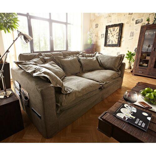 DELIFE Hussensofa Noelia 240x145 cm Braun Couch mit Kissen