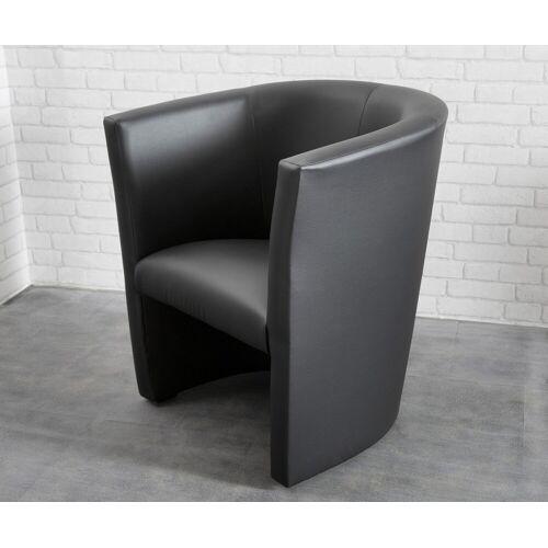 DELIFE Cocktailsessel Goya Schwarz Design Sessel Lounge Sessel