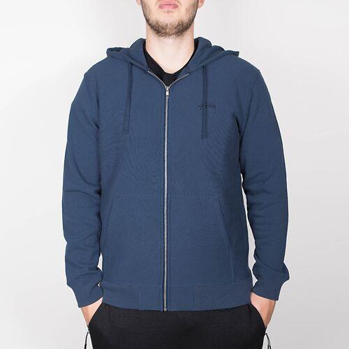 Stussy Stock Logo Zip Hood - Blue M