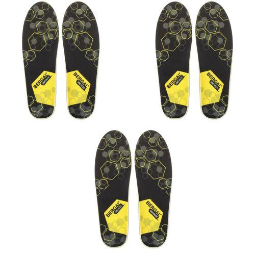 Bergal Einlegesohle Fußbett Sneaker Gr. 36-46 3er Pack 38 EU