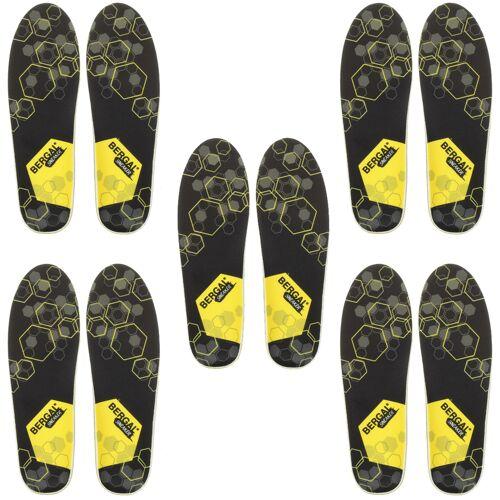 Bergal Einlegesohle Fußbett Sneaker Gr. 36-46 5er Pack 37 EU