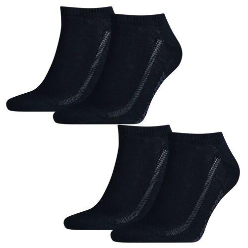 Levi's 4 Paar Levis Unisex Socken 168SF Low Cut Sneakersocken Kurzsocken 321 - navy, 39-42