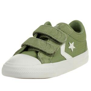Converse CTAS 2V OX Ripstop Easy-On Star Player Low Top Kinder Sneaker 767548C Grün 24 EU