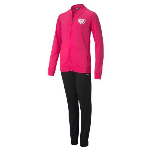 Puma Poly Suit G Mädchen Trainingsanzug Sportanzug 583317 Pink  152
