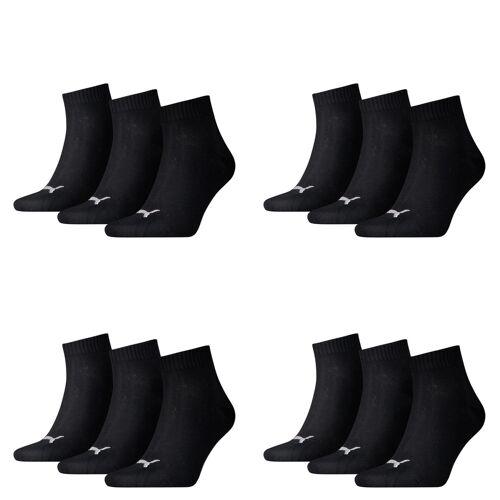Puma Unisex Quarter Quarters Socken 12er Pack 200 - black, 39-42
