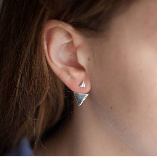 Elise et moi Dreieck Sterlingsilber Ohrringe - Ear Jacket