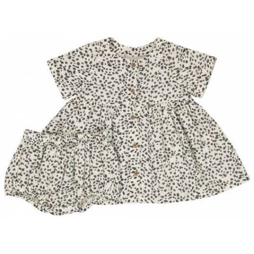 HEMA Baby-Set, Kleid & Hose Eierschalenfarben