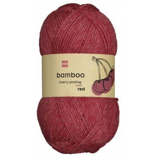 HEMA Strickgarn, Wolle-Bambus, 100 G, Rot