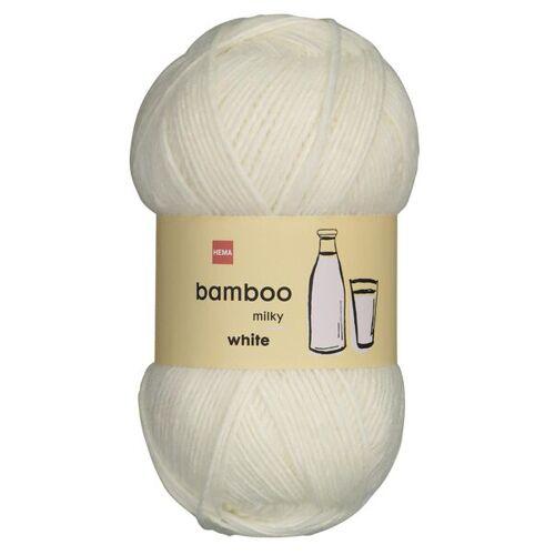 HEMA Strickgarn, Wolle-Bambus, 100 G, Weiß